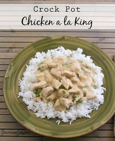 Crock Pot Chicken a la King is one of those comfort foods you can never get enough of. A perfect winter recipe that reminds you of childhood.