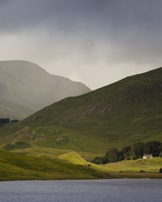 Scottish Highlands: Loch Beannacharain, on the road to the remote Highland town of Scardroy