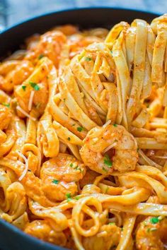 Shrimp Fettuccine with Roasted Pepper Sauce - Father Of A Bijoux Designer . Shrimp Fettuccine with Roasted Pepper Sauce - Father Of A Bijoux Designer ., Shrimp Fettuccine with Roasted Pepper Sauce - Father Of A Bijoux Designer . Shrimp Fettuccine w Seafood Recipes, Chicken Recipes, Cooking Recipes, Healthy Recipes, Shrimp Pasta Recipes, Seafood Meals, Easy Recipes, Cooking Bacon, Shrimp Meals
