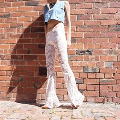 Lace Flares with a stunning hand-trimmed edging  They're see-through lacey and ready for good times! Find a pair via link in bio with free shipping