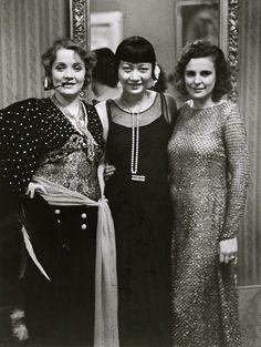 Marlene Dietrich, Anna May Wong, Leni Riefenstahl, Berlin, 1928 (Alfred Eisenstaedt)