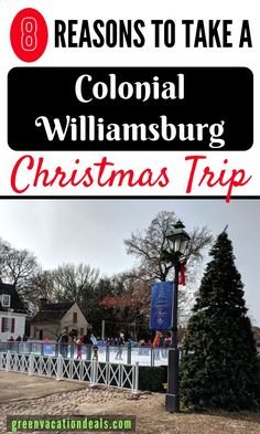 Visit Colonial Williamsburg during Christmas time for ice skating, live Carolers & music, costumed storytellers, photos with Santa, hot cocoa & sweet treats Christmas Getaways, Christmas Travel, Christmas Vacation, Colonial Williamsburg Va, Williamsburg Christmas, Family Vacation Destinations, Vacation Deals, Family Vacations, Travel Destinations