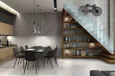 All the furniture here modern aesthetics. Modern Aplomb Style Pendant Light