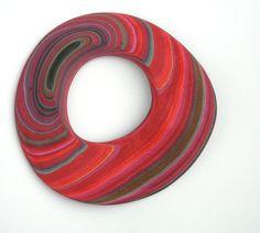 Bracelet | Susanne Holzinger, Glued layered paper block, carved