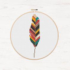 Bird Needlework Stencil PDF Download Navajo Feather Chart Cherokee Art Cute Nursery Art Color Palette Contemporary Needlework Handmade Gift