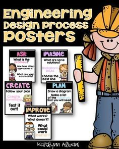 Engineering Design Process Posters for Elementary STEM! - [design 2]