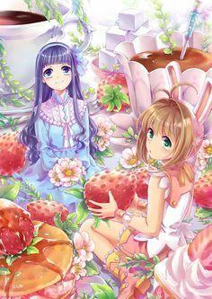 Cardcaptor Sakura [CLAMP] - Sakura Kinomoto x Tomoyo Daidouji - SakuTomo Anime Expo, Manga Anime, Me Anime, Anime Demon, I Love Anime, Anime Girls, Cardcaptor Sakura, Sakura Card Captor, Syaoran