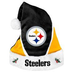 Pittsburgh Steelers Colorblock Santa Hat