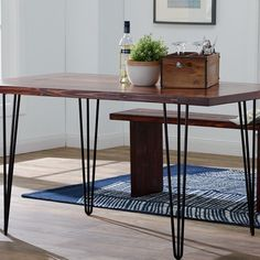 "28"" for main 54"" x 54"" table: $119 +tx    I-Semble® 3-Rod Hairpin Legs, 4-Pack, Black"