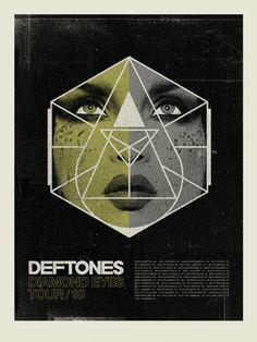 Deftones Diamond Eyes Tour 2010  ⚓✊  (Concepcion Studios -page 42 of Gig Poster 2 book€