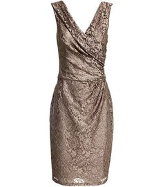 taupe, shimmery lace with rose overlay. STUNNING. (and TOTES OUT OF MY BUDGET: $300)