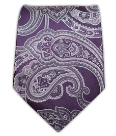 Aaron Paisley - Eggplant | Ties, Bow Ties, and Pocket Squares | The Tie Bar