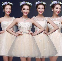 Champagne fantaisie pays filles bridemaid élégante robe de soirée bridemaids belles juniors robes de mariée livraison gratuite B2804 dans Robes de demoiselles d'honneur de Mariages et événements sur AliExpress.com | Alibaba Group