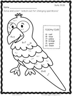 Rain Forest ~ 9 coloring pages of different CUTE rain