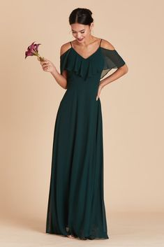 88229fb2acc Birdy Grey Bridesmaid Dress Under  100 - Jane Dress in Emerald Peacock Bridesmaid  Dresses
