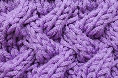 Knitting Stitch * Fake entrelac