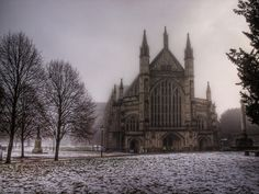 Winchester Cathedral Hampshire England Beautiful old medieval church and the most longest at 526 feet.