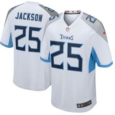2abbb438a50 Men's Nike Tennessee Titans #25 Adoree' Jackson White New 2018 NFL Game  Stitched Jersey