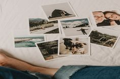 A close up of a person looking at 8 instant camera photos resting on a bed - photography facts Self Portrait Photography, Film Photography, Photography Ideas, Rainbow Photography, Instant Photo Camera, Bed Picture, Romance Tips, Raw Photo, Print Your Photos