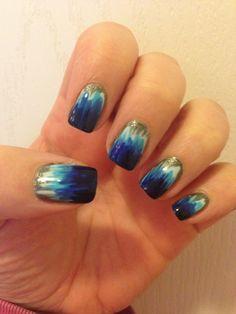 Brushstroke Ombré Tie Dye Nails Nail Mania Beauty Hair