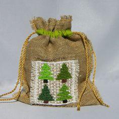 Christmas tree giftbag by Mafana on Etsy