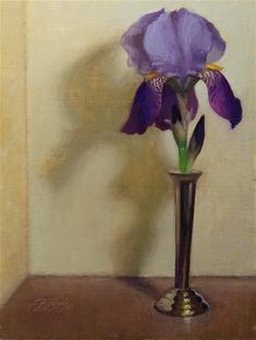 """Daily+Paintworks+-+""""Purple+and+Yellow""""+-+Original+Fine+Art+for+Sale+-+©+Debra+Becks+Cooper"""