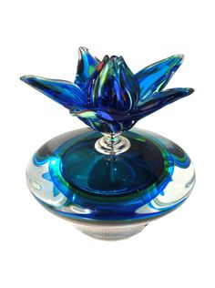 Dale Tiffany Nostalgic Perfume Bottle, Blue at MYHABIT Only $35.  That is a bargain, let me tell you!