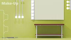 Flaminia Ceramic - Make-Up wall-lamp and hanging-lamp