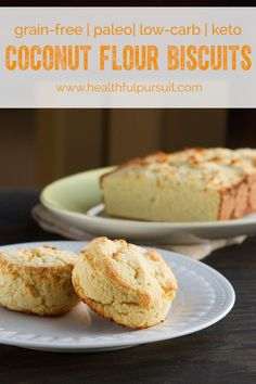 Low-Carb Coconut Flour Biscuits or Bread (grain-free, paleo, dairy-free + nut-free) (Healthful Pursuit) Healthy Low Carb Recipes, Real Food Recipes, Keto Recipes, Cooking Recipes, Dessert Recipes, Desserts, Low Carb Bread, Keto Bread, Low Carb Keto