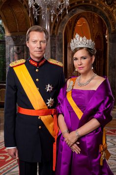 Grand Duke Henri and Grand Duchess Maria Theresa of Luxembourg Royal Brides, Royal Weddings, Royal Princess, Prince And Princess, Grand Duc, Maria Teresa, Royal Jewelry, Jewellery, Royal House