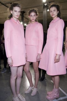 obsessed, obsessed, obsessed. Simone Rocha Fall 2013 - Backstage