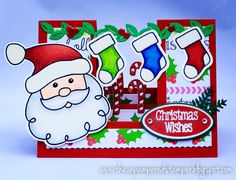 Hello! I wanted to share with you a few cards using this month's new Club Stamp  and Die Set  from The Stamps of Life! It's Santa Cl...