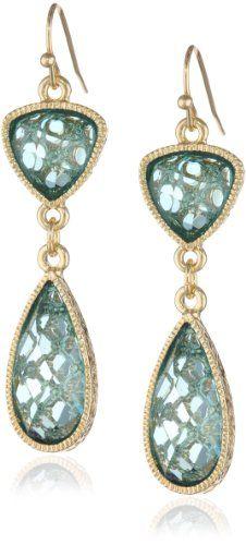 "1928 Jewelry ""Aqua Verde"" Gold-Tone Light Aqua Drop Earrings 1928 Jewelry, EARRINGS AND THINGS to buy just click on amazon here http://www.amazon.com/dp/B00BHRZAXM/ref=cm_sw_r_pi_dp_q9PFsb117WDX1QGN"