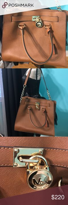 Michael Kors Large Hamilton purse Authentic MK purse. Excellent condition. No marks, stains or scuffs inside or out. Dimensions 14x12x6 inches. Michael Kors Bags Totes