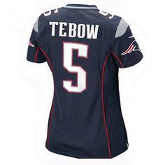 6bdb81d5535e Ladies Nike Tim Tebow Game Jersey-Navy Jersey Patriots
