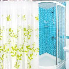 Waterproof Fabric Shower Curtain - Butterfly Design