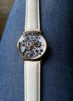 Kup mój przedmiot na #vintedpl http://www.vinted.pl/akcesoria/bizuteria/9252133-zegarek-z-koronka-bialy