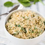 Parmesan and Spinach Orzo | Cooking Classy
