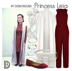 Princess Leia by leslieakay on Polyvore featuring polyvore, fashion, style, DKNY, Boohoo, Alexander McQueen, INC International Concepts, Episode, clothing, disney, disneybound, starwars, disneycharacter and princessleia