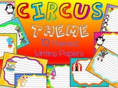 Circus writing paper