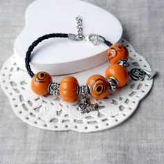 Hey, I found this really awesome Etsy listing at https://www.etsy.com/listing/220273313/orange-boho-bracelet-with-spiral