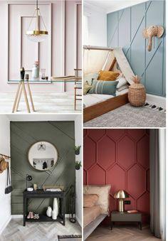Accent Walls In Living Room, Living Room Decor, Bedroom Decor, Accent Wall Designs, Bedroom Wall Designs, Home Room Design, Home Interior Design, Interior Walls, Apartment Interior