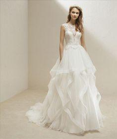 Pronovias — Marry Me Bridal Mosman Wedding Dresses Sydney, 2nd Wedding Dresses, Bridal Skirts, Formal Dresses For Weddings, Lace Wedding Dress, Wedding Dress Styles, Designer Wedding Dresses, Wedding Skirt, Tulle Wedding