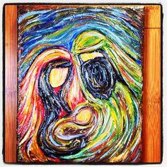 ORIGINAL ART Modern Nativity 1 8X10 Acrylic on canvas on Etsy, $40.00