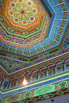 Architectural details inside Boulder Dushanbe Teahouse in Colorado, USA (by wallyg).