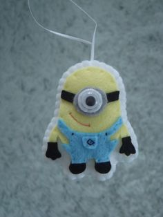 cute felt Despicable Me minion ornament decoration. $7.50, via Etsy.