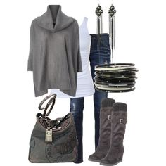 A fashion look from August 2012 featuring MARELLA sweaters, Tusnelda Bloch tops and AG Adriano Goldschmied jeans. Browse and shop related looks.