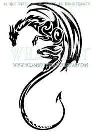 Image result for tribal dragon tattoo