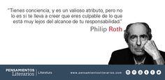 Philip Roth. Sobre la conciencia de los hombres.