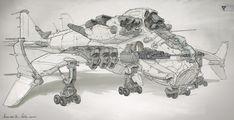Dragon Airship concepts, Michal Kus on ArtStation at https://www.artstation.com/artwork/Qao0B